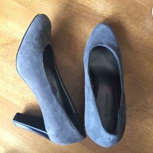 Liz Claiborne gray heels